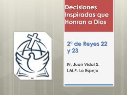 Decisiones Inspiradas que Honran a Dios