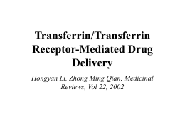 Transferrin/Transferrin Receptor