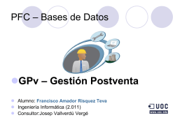 PFC – Bases de Datos