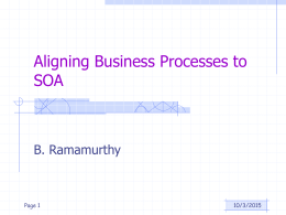 Relating Processes in SOA to Web Services: Introduction to