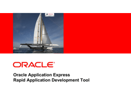 Oracle Application Express (Web Application Development)
