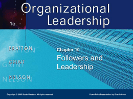 Organizational Leadership 1e.