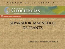 SEPARADOR MAGNETICO DE FRANTS - Petro