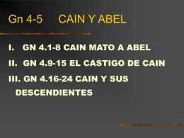 Gn 4-5 CAIN Y ABEL
