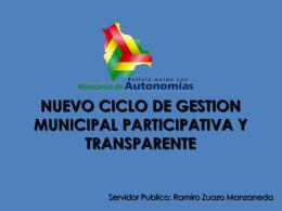 CICLO DE GESTION MUNICIPAL PARTICIPATIVA Y …