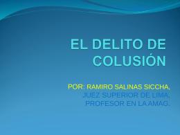 EL DELITO DE COLUSION DESLEAL