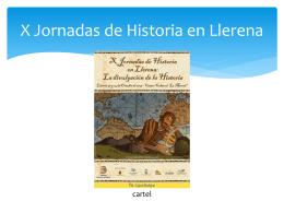 X Jornadas de Historia en Llerena