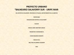 """BALNEARIO URBANO """"URIPE MAR"""""""