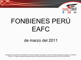 Diapositiva 1 - Fonbienes Peru