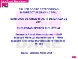 Encuestas sector industrial (anual, mensual, trimestral