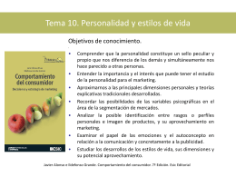Tema 10. Personalidad y estilos de vida