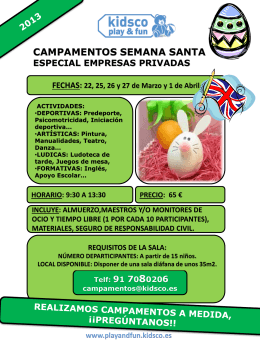 CAMPAMENTO VERANO 2012 URB. LOS SAUCES