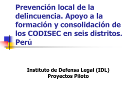Local Crime Prevention in Peru