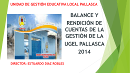 UNIDAD DE GESTION EDUCATIVA LOCAL PALLASCA