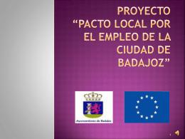 """PROYECTO """"PACTO LOCAL POR EL EMPLEO DE LA …"""