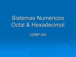 Sistemas Numerico Octal & Hexadecimal