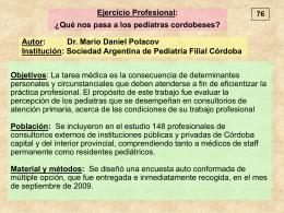 Encuesta sobre ejercicio profesional
