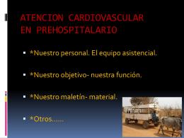 Personal profesional de la salud (Choferes, enfermeros)