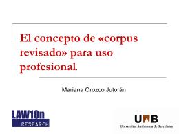 El concepto de 'corpus revisado' para uso profesional
