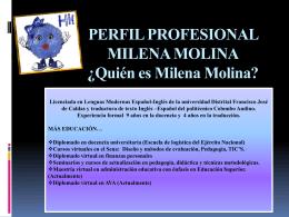 PERFIL PROFESIONAL MILENA MOLINA