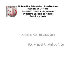 Universidad Privada San Juan Bautista Facultad de Derecho