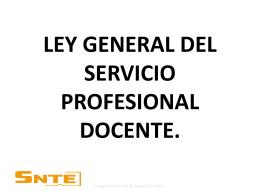 PROYECTO DE LA LEY GENERAL DEL SERVICIO …