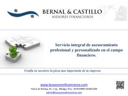 Servicio integral de asesoramiento profesional y