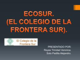 ECOSUR. (EL COLEGIO DE LA FRONTERA SUR).