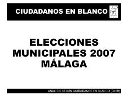 RESULTADOS ELECCIONES MUNICIPALES 2007 ARCOS DE …