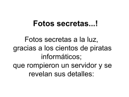 Fotos secretas...!