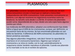 PLASMIDOS - Aula Virtual FCEQyN