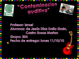 contaminacion auditiva""