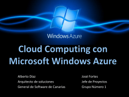 Cloud Computing con Microsoft: Windows Azure