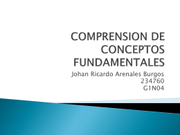 COMPRENSION DE CONCEPTOS FUNDAMENTALES