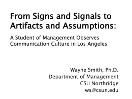 Signs and Signals: Management in and around Los Angeles