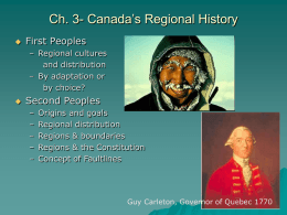 Canada's Regional History