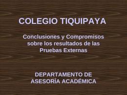 COLEGIO TIQUIPAYA