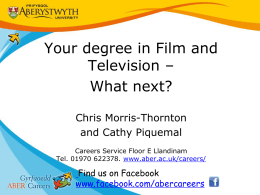 Your degree in Film and Television