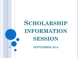 Scholarship information session - Pages