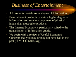 Economics of Information Goods