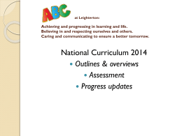 Changes to the English Curriculum: Year 1 at a glance