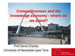 Competitiveness and the knowledge economy