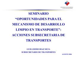 """SEMINARIO """"OPORTUNIDADES PARA EL MECANISMO DE …"""