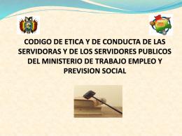 CODIGO DE ETICA Y DE CONDUCTA DE LAS SERVIDORAS …