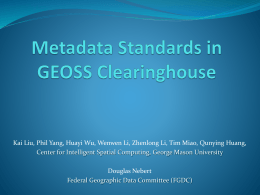 Metadata Standards in GEOSS Clearinghouse