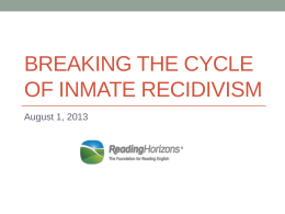 The Link Between Literacy and Recidivism