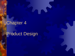 Chapter 4 Product Design - UNCW Faculty and Staff Web …