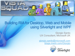 Silverlight MIX Overview