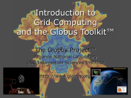 eSI January 2002: Overview of Grid Computing