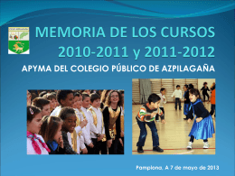 MEMORIA DEL CURSO 2008-2009
